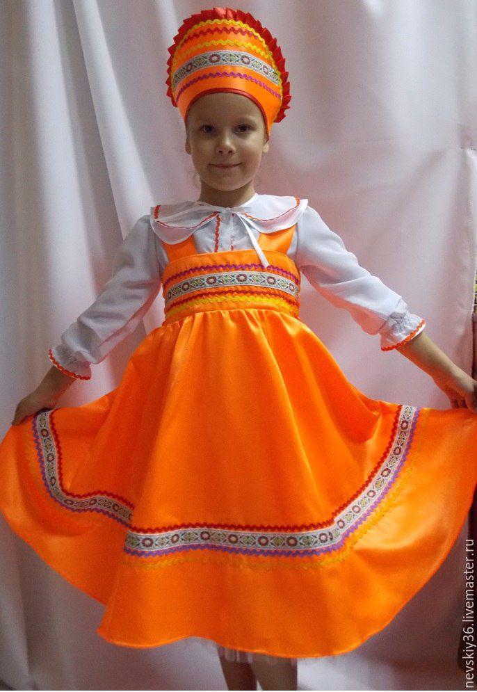 Русский народный костюм для девочек своими руками 57