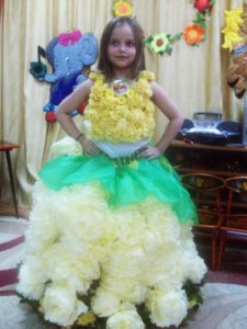 Платье из салфеток своими руками фото