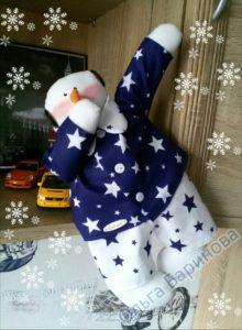 Выкройка снеговика
