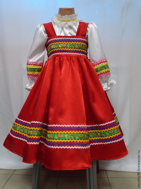 Русский народный костюм своими руками фото