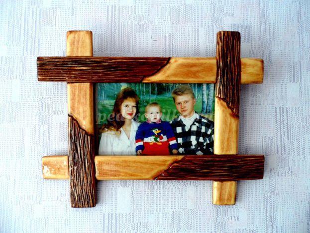 Деревянная фоторамка своими руками фото