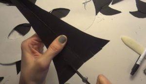 Маска ворона своими руками из картона