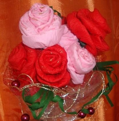 Цветы из салфеток своими руками фото