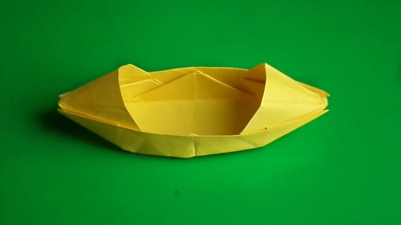 Лодка каноэ из бумаги своими руками