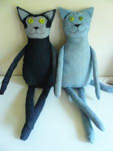 Игрушки из джинсы своими руками фото