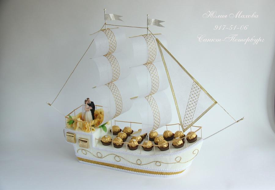 подарочный корабль из конфет своими руками фото играют