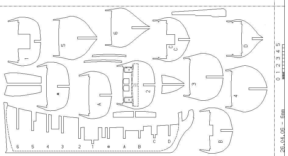 Корабль из дерева своими руками чертежи