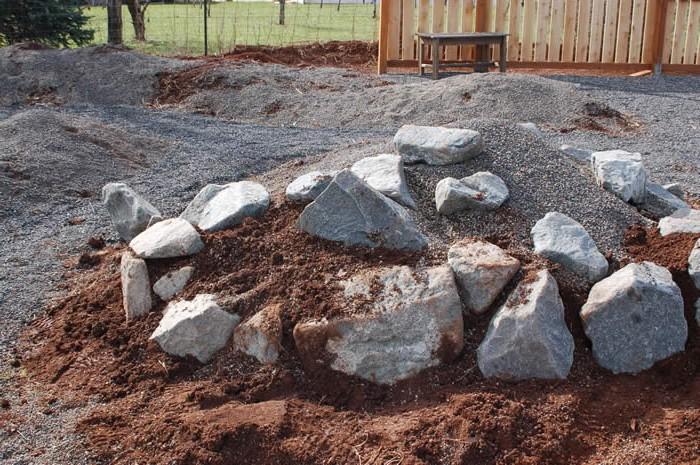 Укладка камней для альпийской горки