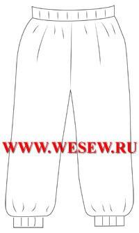 Колобок в беретке и штанишках