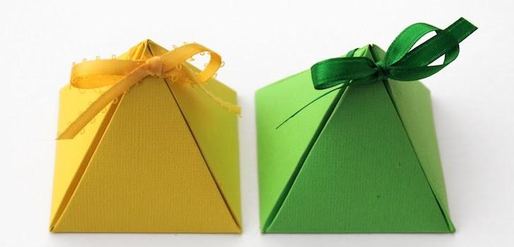 Треугольная коробки своими руками