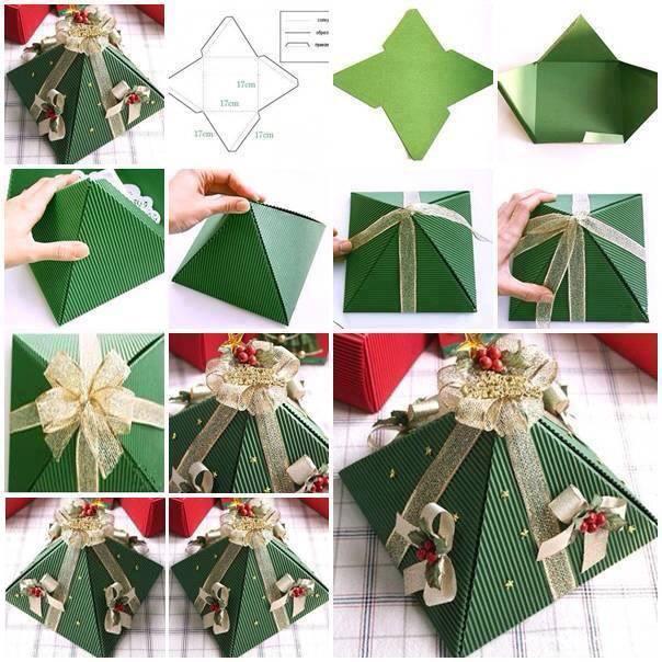 Новогодние коробки для подарков своими руками
