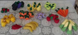 Фрукты и овощи своими руками фото