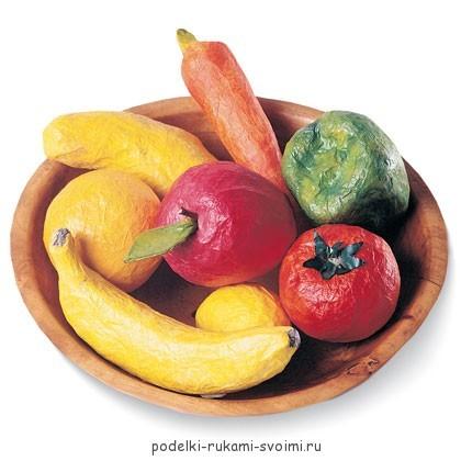 Фрукты и овощи из бумаги своими руками