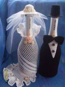 Платье невесты на шампанское для свадьбы своими руками