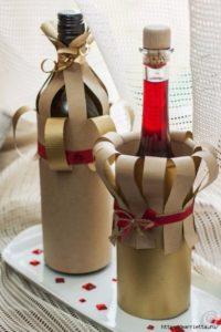 Одежда из бумаги на шампанское для свадьбы своими руками