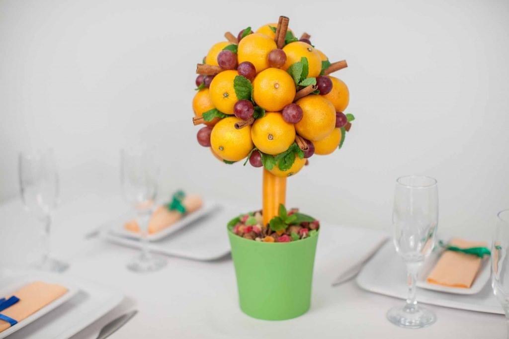 Фрукты и овощи из конфет своими руками