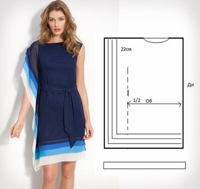 Выкройки платья для начинающих
