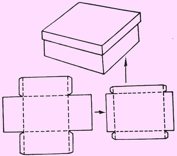Схема картонной коробки для хранения
