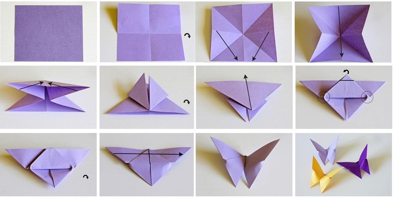 Бабочка из бумаги в других техниках