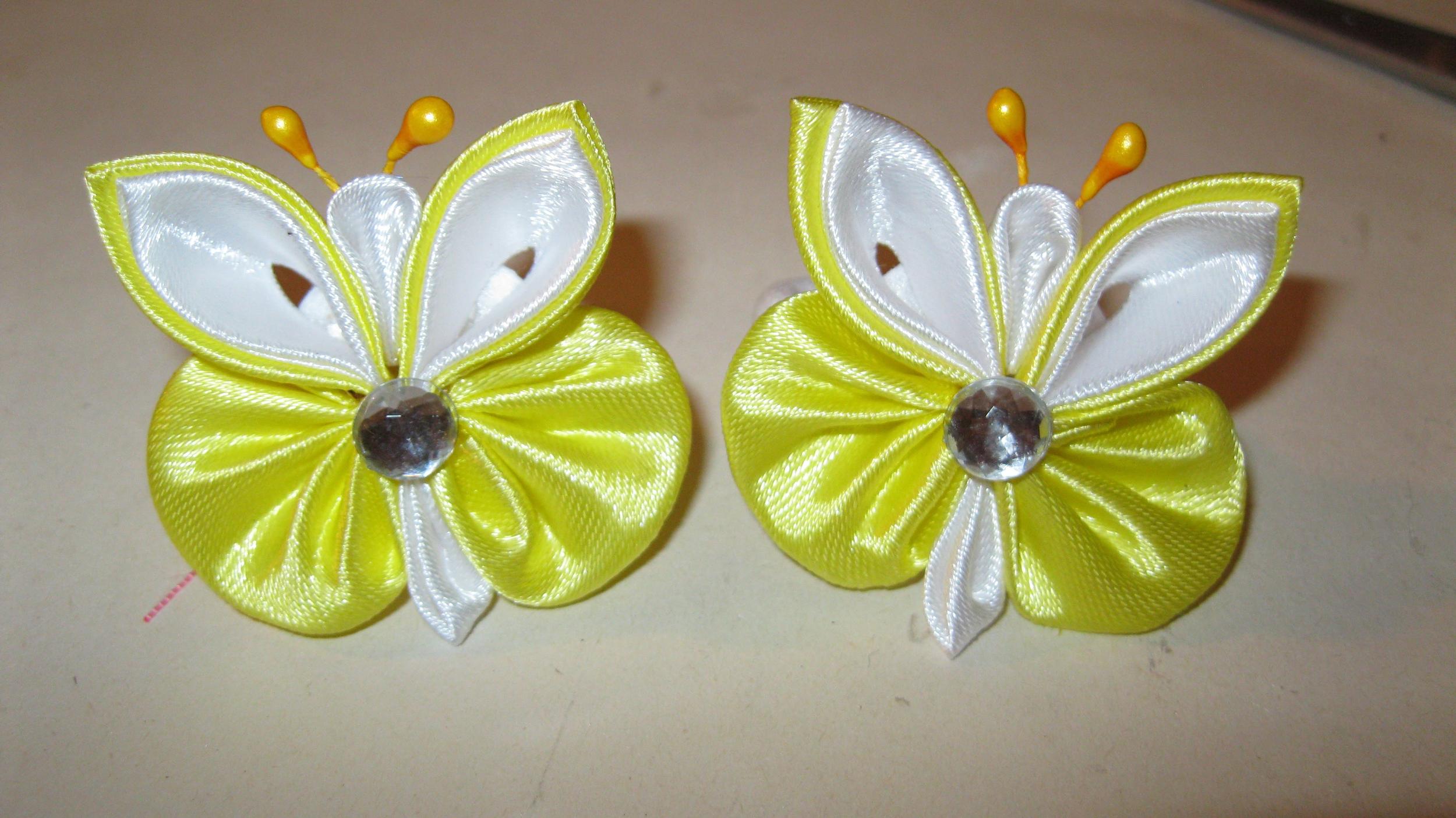 Бабочки из лент своими руками