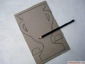 Кубок из картона своими руками