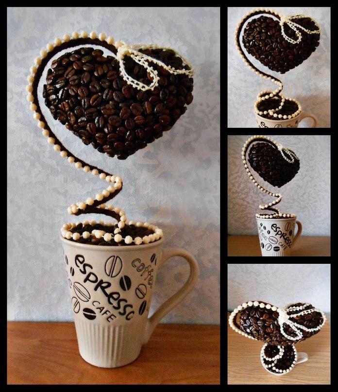 Поделки из кофейных зерен своими руками фото