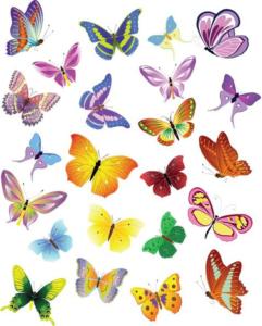 Шаблоны и выкройки бабочек своими руками