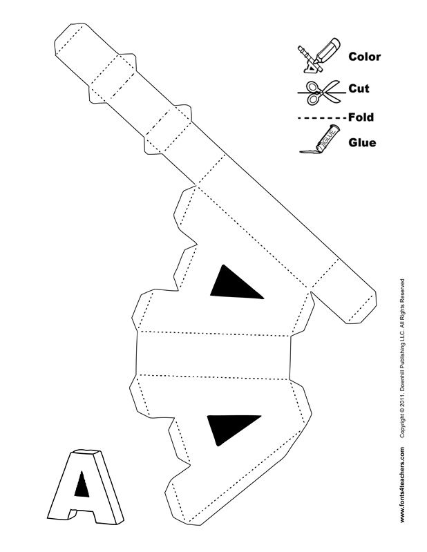 Объемные буквы из картона своими руками схемы и шаблоны