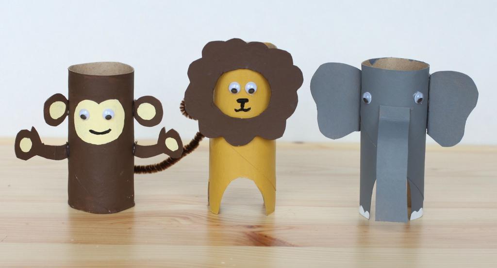Животные из картона своими руками фото