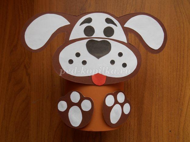 Собака из картона своими руками
