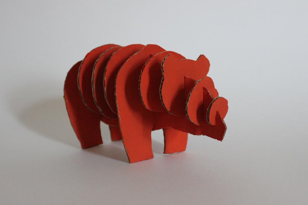 Медведь из картона своими руками