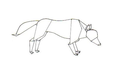 Волк из картона своими руками