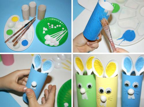 Заяц из картона своими руками