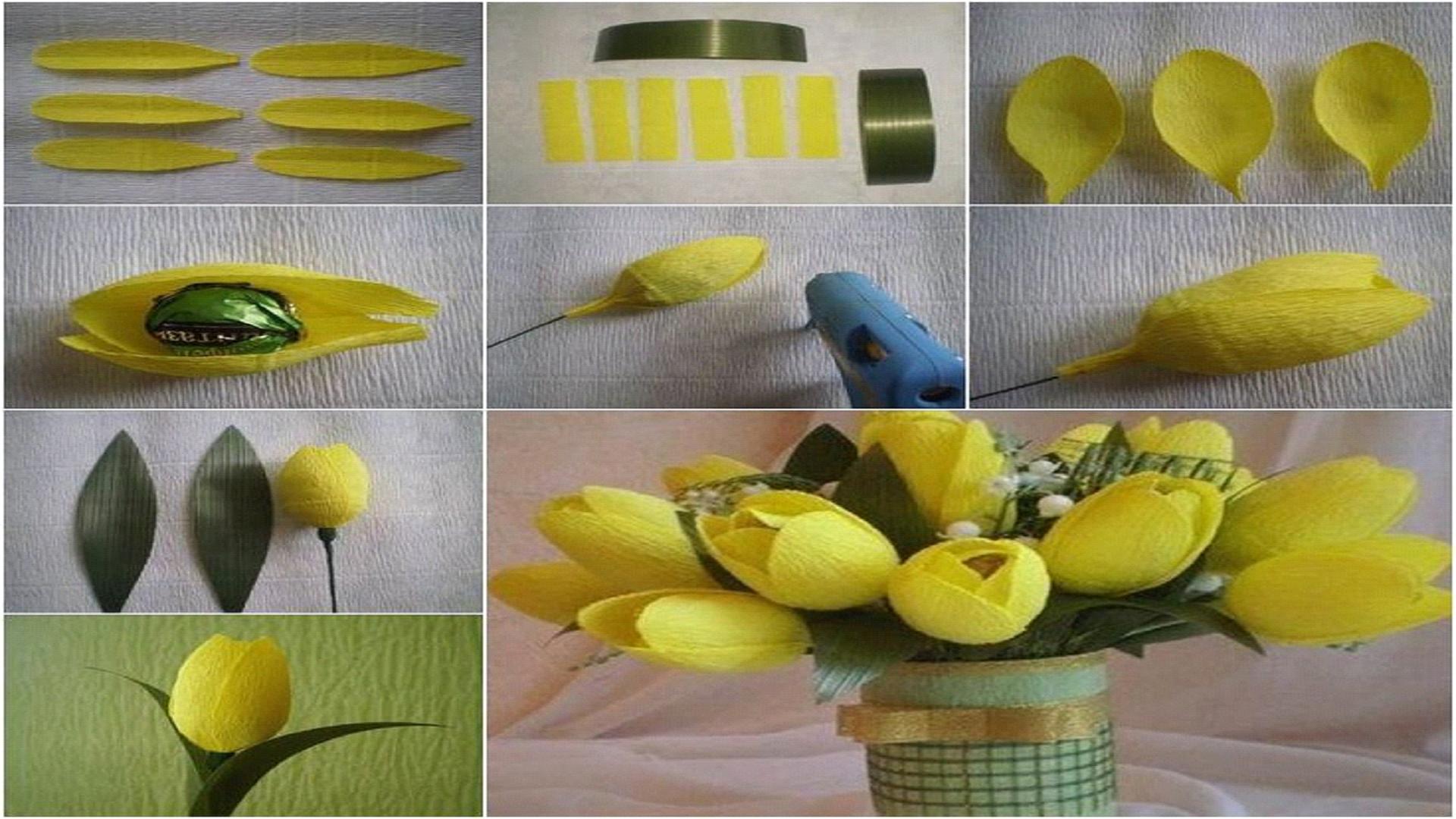 Тюльпаны своими руками фото