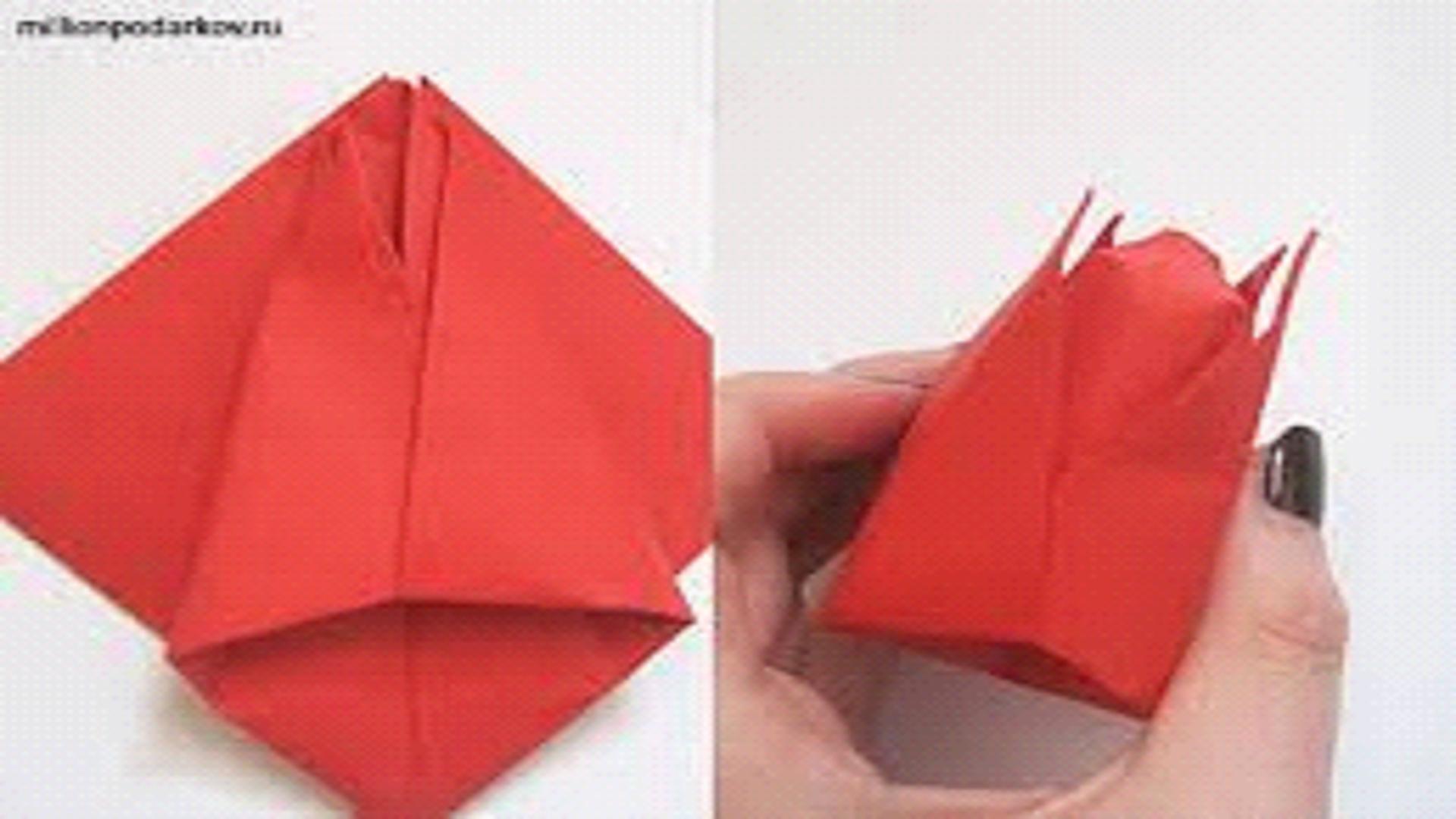 Тюльпан из бумаги своими руками