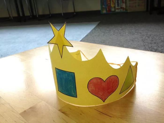 Корона из бумаги своими руками