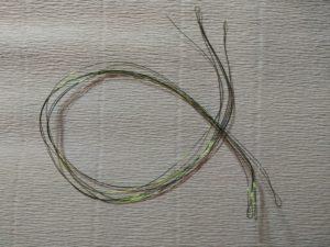 Стебель для цветка из креповой бумаги