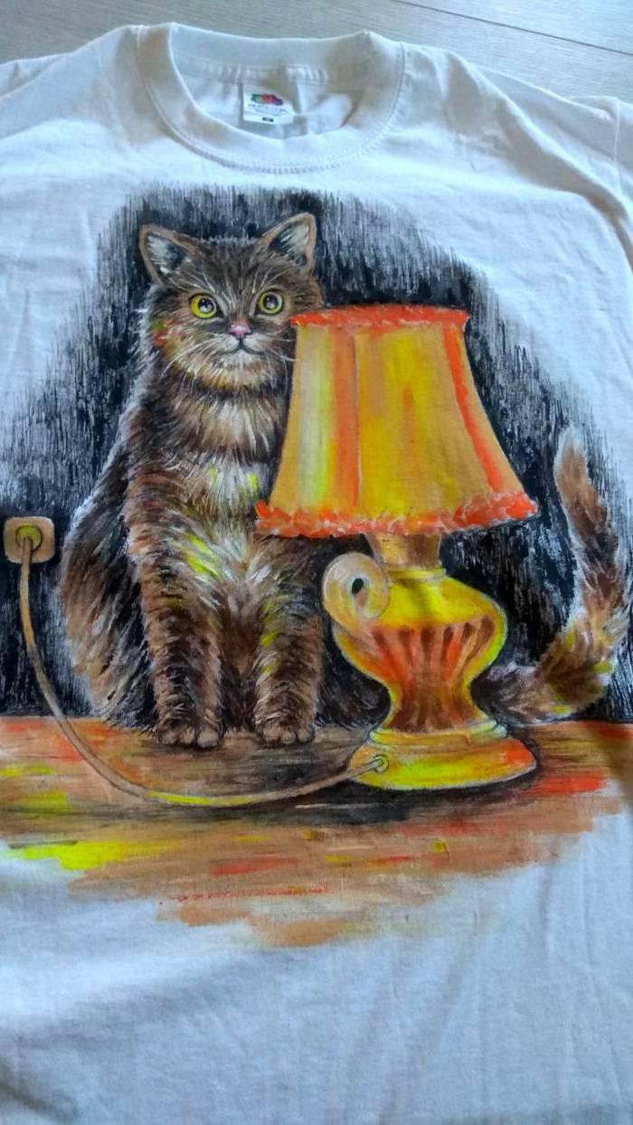 Роспись футболки акриловыми красками – мастер класс