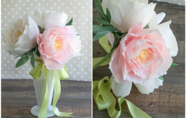 Цветы из креповой бумаги своими руками