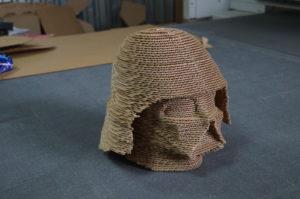 Голова Дарта Вейдра из картона