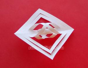 Бумажные снежинки 3-D своими руками