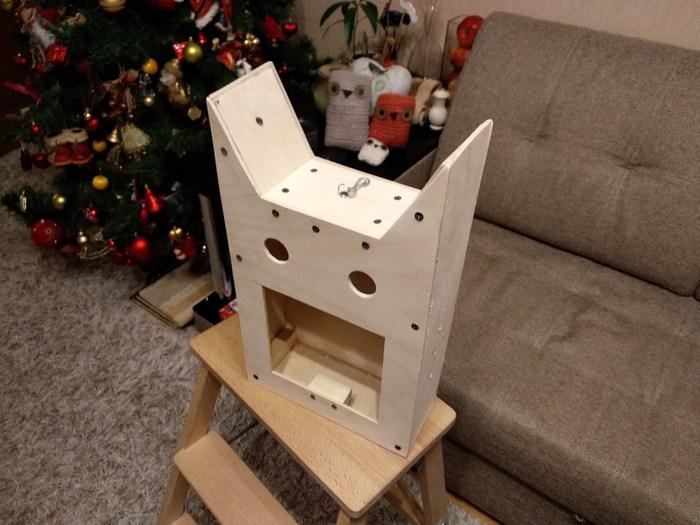 Мастер класс по изготовлению необычной кото-кормушка для птиц, своими руками