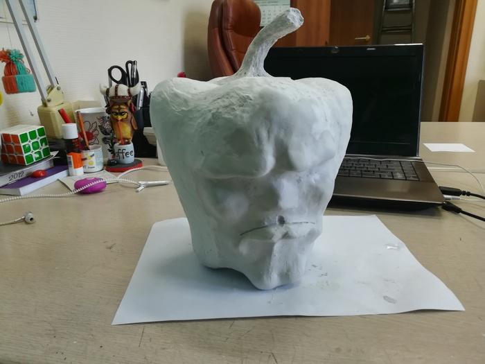 Мастер класс по изготовлению скульптуры болгарского перца своими руками.