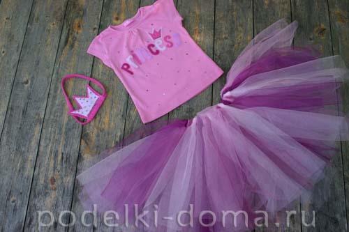 Розовый костюм принцессы для девочки