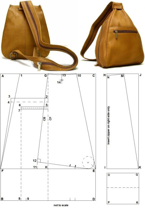 Раскройки рюкзаков из кожи