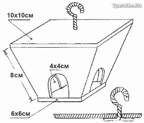 Схемы и чертежи кормушек